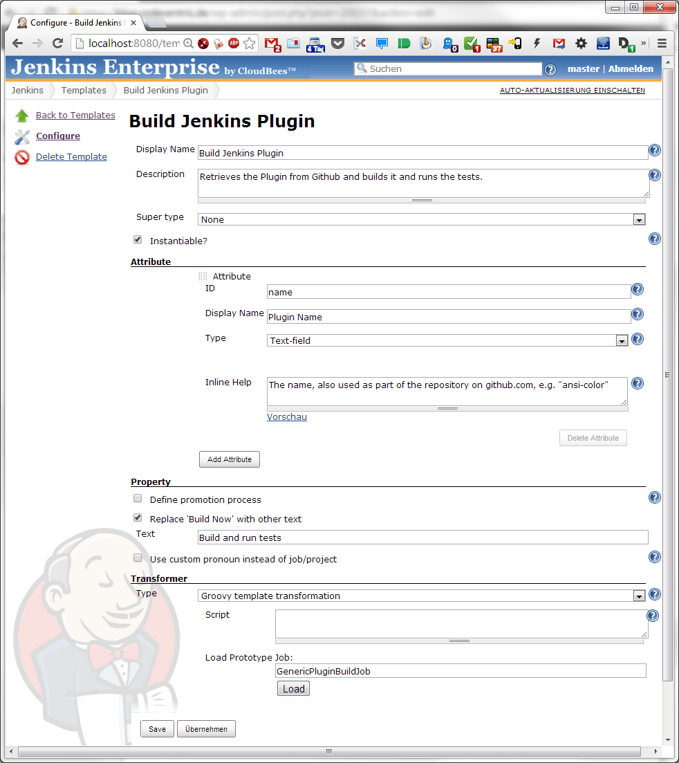Configure Job Template