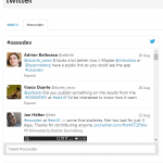 ALE 2014 Unconference Summary, app twitter, screenshot