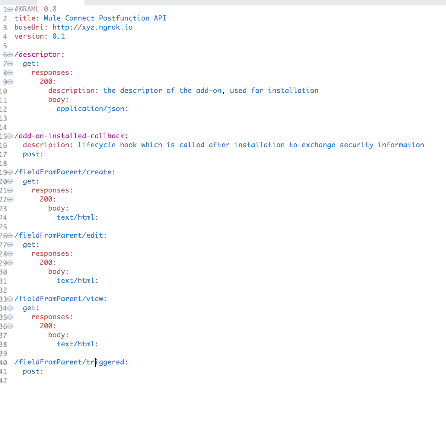first draft of the API