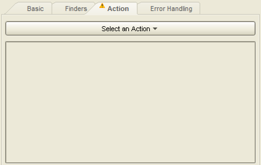 Select an action for step