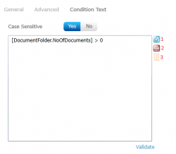 condition text in the decision node