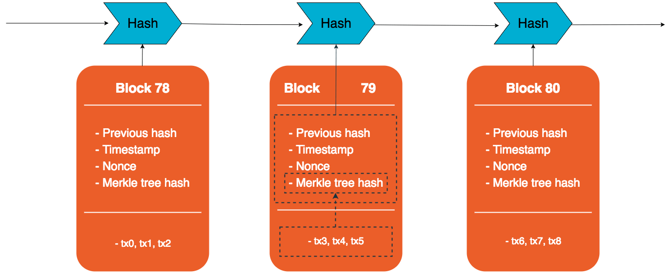 A Blockchain Consists Of Transactions And Blocks That Reference Each Other By Hashing The Previous One