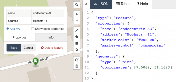 GeoJSON Point Feature