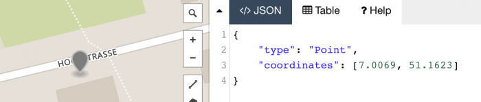 GeoJSON Point