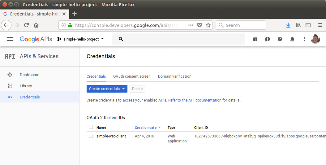 Finding the Google client ID