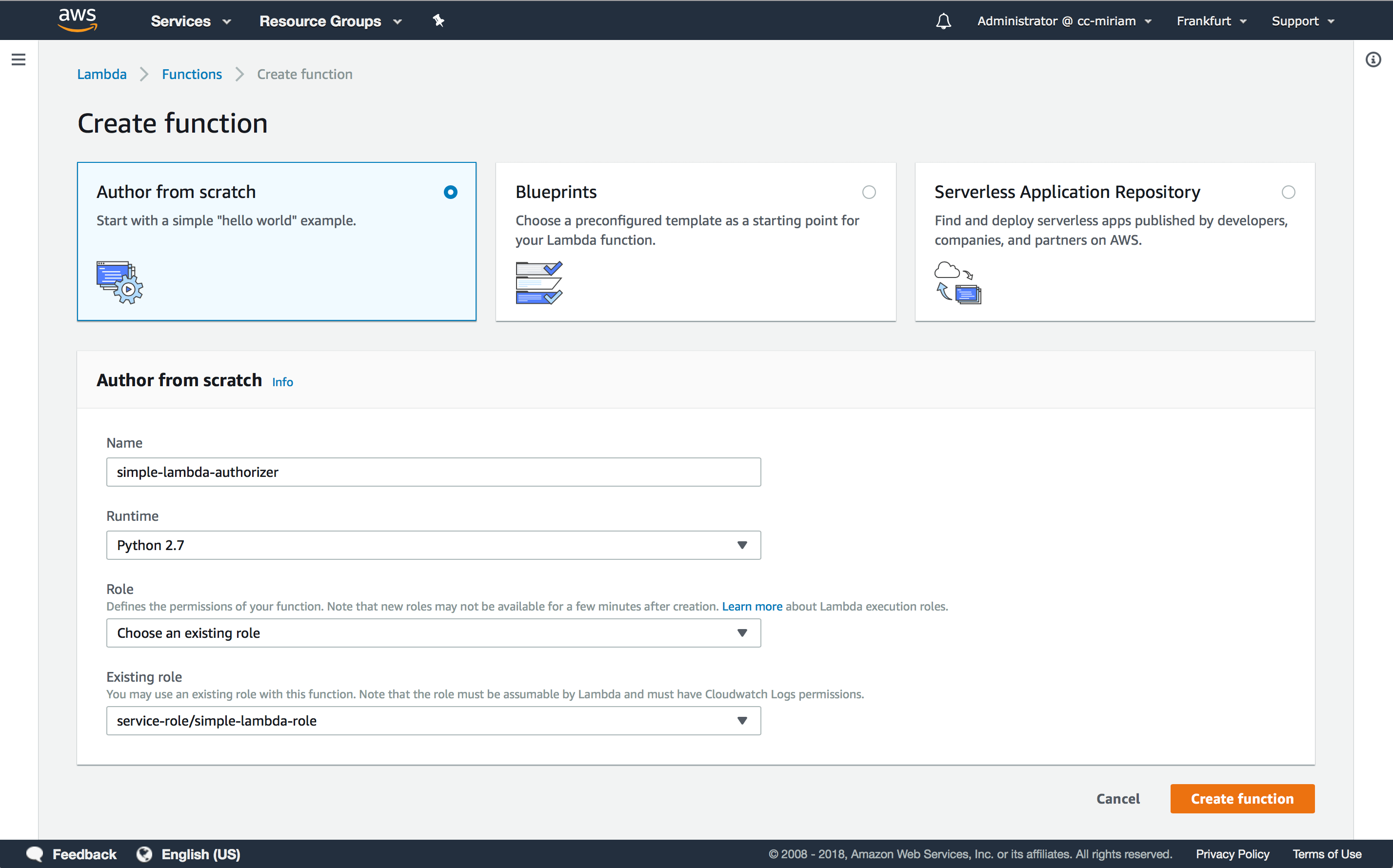 How to create an AWS Lambda Authorizer for an Amazon API Gateway