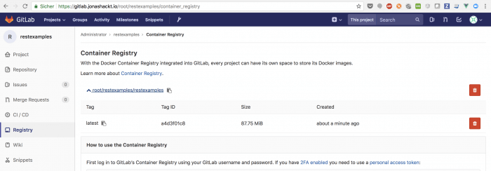 gitlab container registry overview
