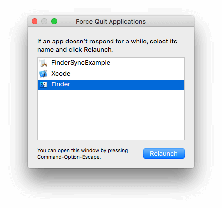 macOS Force Quit dialog