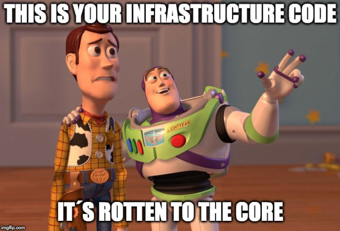 test-driven infrastructure meme