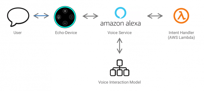 Processing of a user interaction with an Alexa Skill