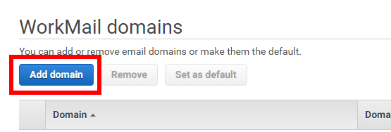 Workmail Add Domain