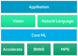 Komponenten von Core ML, Accelerate, BNNS, MPS