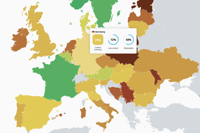 Electricity map project Europe
