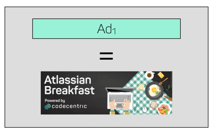 Banner ad as example for an ad