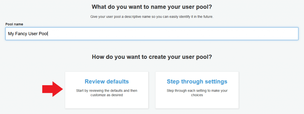aws iot cognito user pool
