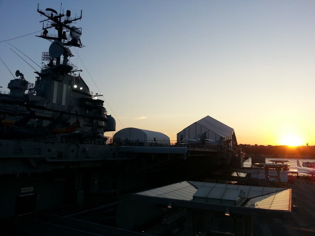 Intrepid Museum at Dawn