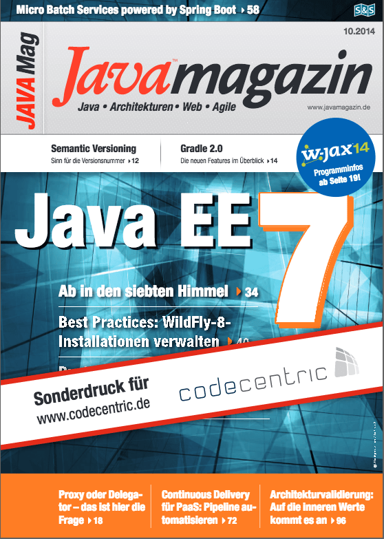 Java Magazin - Batcharchitektur in the Enterprise: Micro Batch Services powered by Spring Boot