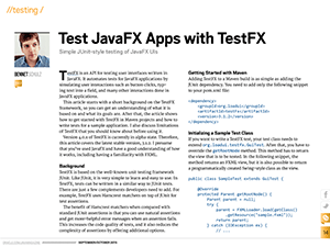 Oracle Java Magazine - Test JavaFX Apps with TestFX